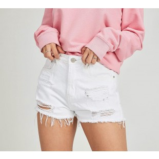 Brave Soul Woman Extreme Rip Denim Short