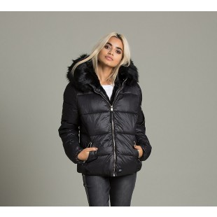 Sixth June Womens Faux Fur Nylon Hooded Jackets